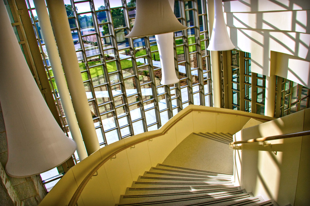 View from second floor on PAC